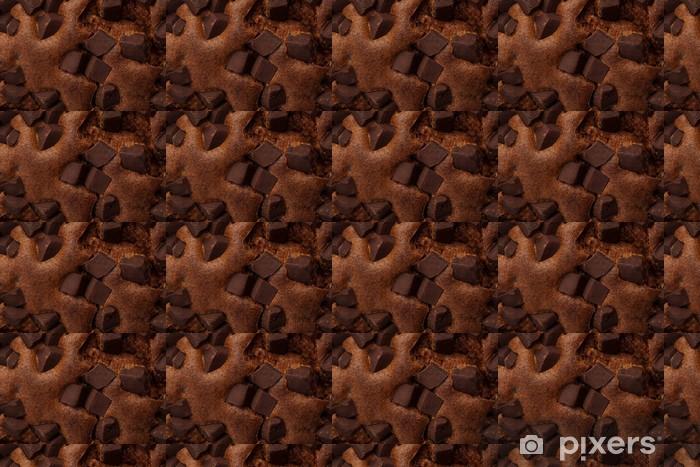 Papier peint vinyle sur mesure Gros plan sur un brownie au chocolat - Desserts et friandises