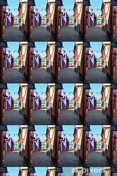 Papier peint vinyle sur mesure Colorful Burano, Italie - Villes européennes
