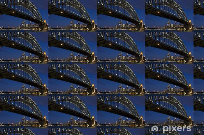 Iconic satama silta sydney, australia Räätälöity vinyylitapetti -
