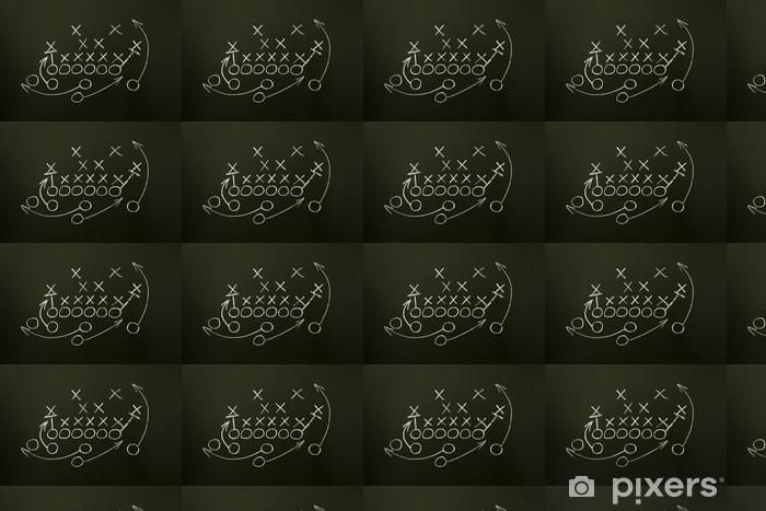 Papier peint vinyle sur mesure Jeu de stratégie dessinée sur le tableau noir - Sports collectifs