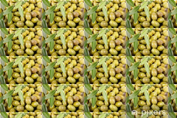 Papier peint vinyle sur mesure Olives vertes doux - Repas