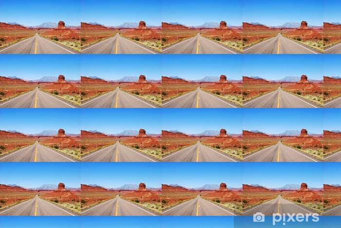 Papier peint vinyle sur mesure Desert route - Amérique