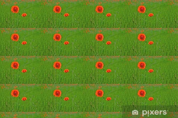 Tapeta na wymiar winylowa Czerwone maki - Kwiaty