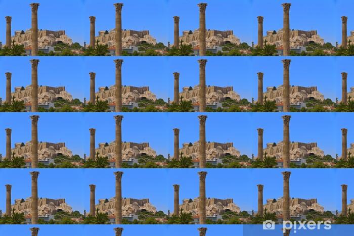 Tapeta na wymiar winylowa Akropol widok z świątyni Zeusa Olimpijskiego w Atenach w Grecji - Europa