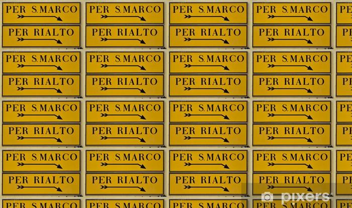 Tapeta na wymiar winylowa Strassenschild Wenecja - Europa
