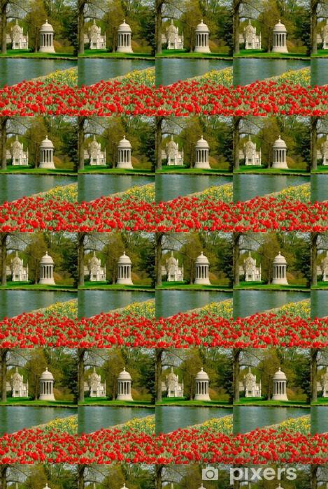 Papier peint vinyle sur mesure Bosquet de printemps cimetière - Bâtiments publics