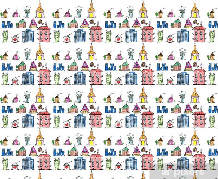 Vinylová tapeta na míru Искусство домов для вашего дизайна - Soukromé budovy