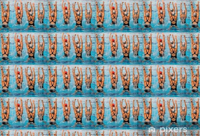 Vinyl behang, op maat gemaakt Gesynchroniseerde Zwemmers - Thema's
