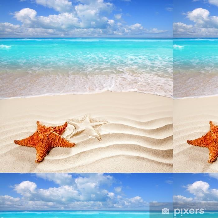 Vinylová Tapeta Karibské tropické pláže s bílým pískem hvězdice shell - Témata
