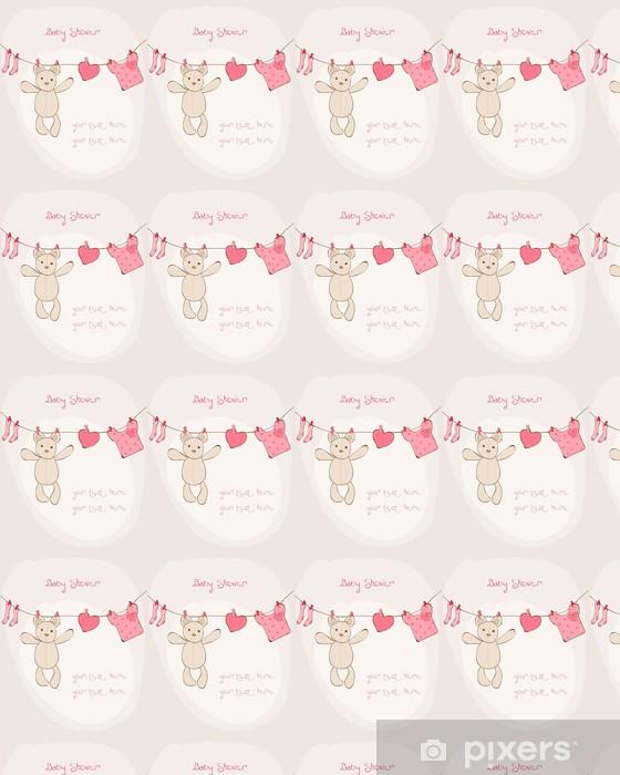 Baby Shower Karte Text.Tapete Baby Shower Karte Mit Platz Fur Ihren Text In Vector Nach Mass