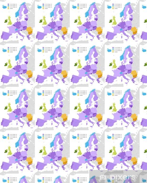 Vinylová tapeta na míru Hranice schengenského prostoru, v Evropě - Témata