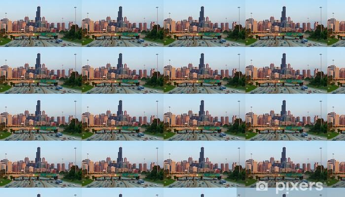 Tapeta na wymiar winylowa Ruchu Chicago. - Ameryka