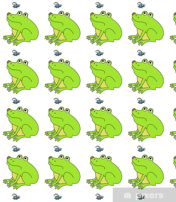 Papier peint vinyle sur mesure Fat Frog Dégoûté, illustration drôle de bande dessinée - Autres Autres
