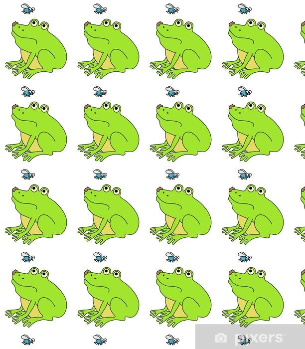 Måttanpassad vinyltapet Äcklad fett groda, rolig tecknad illustration - Övriga Övriga