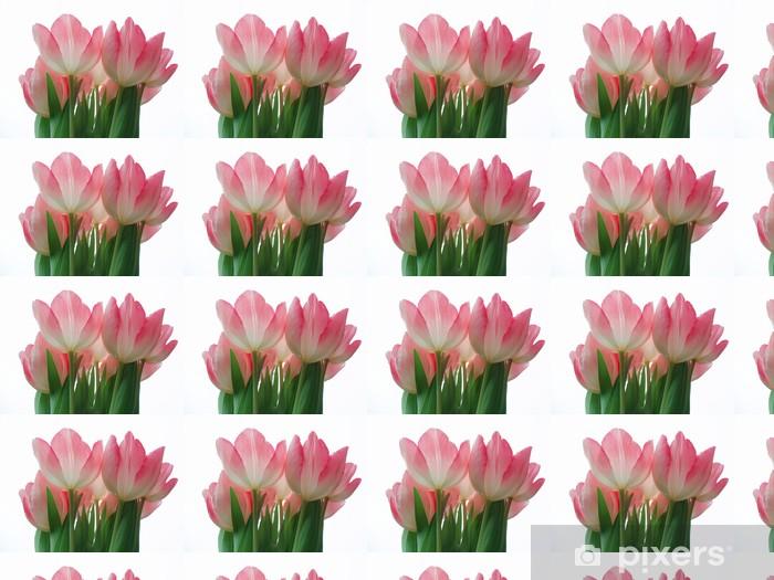 Papier peint vinyle sur mesure Fleurs roses - Saisons