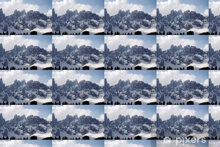 Vinyltapete nach Maß Dolomiten im Schnee - Europa