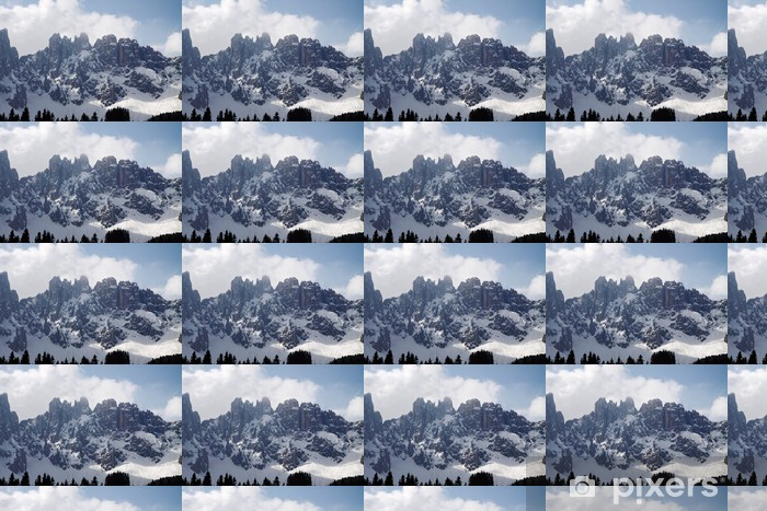 Dolomiten im Schnee Vinyl Custom-made Wallpaper - Europe