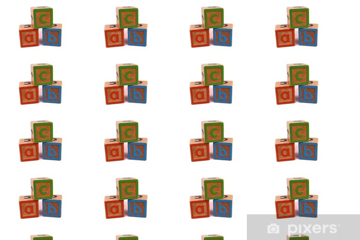 Tapeta na wymiar winylowa Bloki ABC - Edukacja