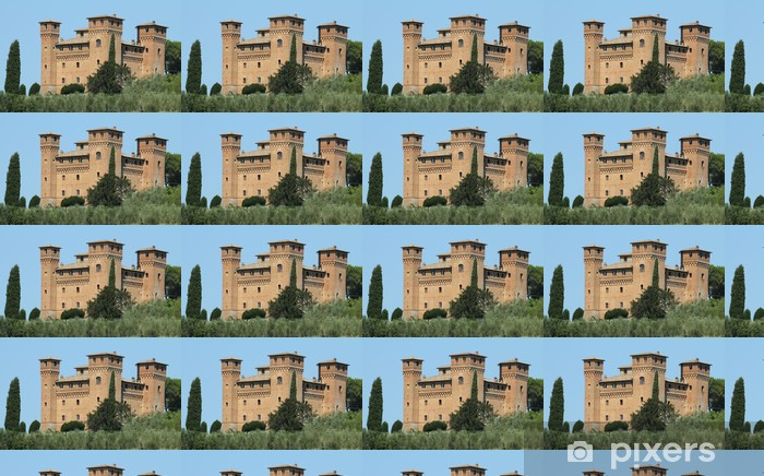 Castle Quattro Torri ( four towers) near Siena Vinyl custom-made wallpaper - Europe