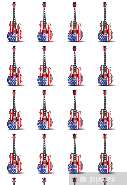 Papier peint vinyle sur mesure Guitare électrique américaine - Musique