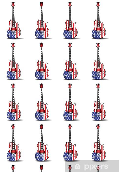 Tapeta na wymiar winylowa Amerykańska gitara elektryczna - Muzyka