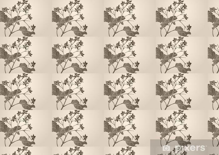 Papier peint vinyle sur mesure Configuration graphique - Plantes