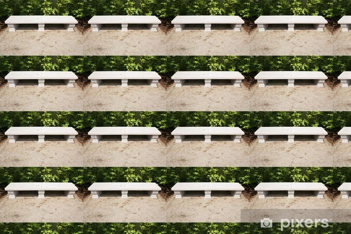 Tapeta na wymiar winylowa Marmur samotna ławka w ogrodzie luksusowych - Zabytki