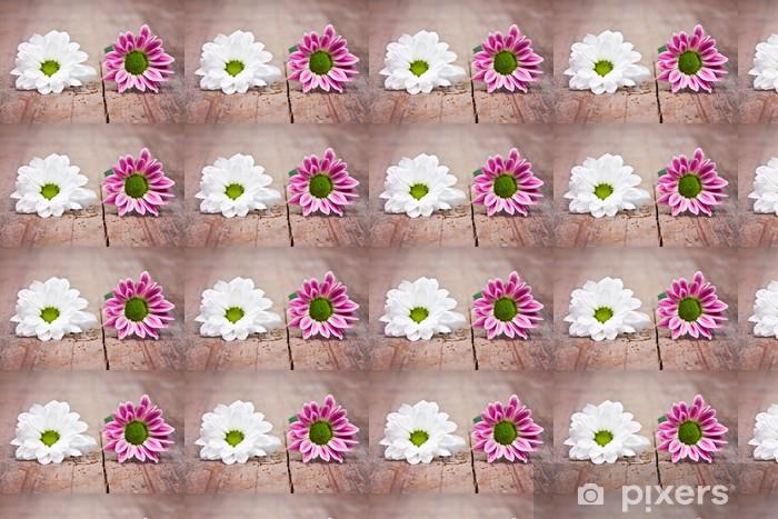 zwei Blümchen Vinyl Custom-made Wallpaper - Flowers