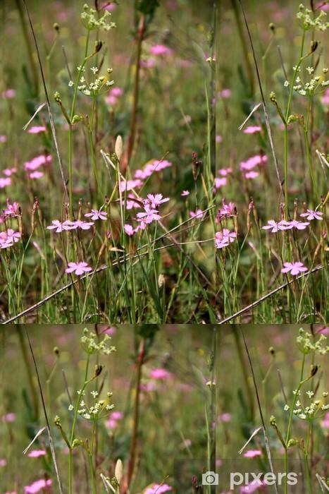 Carta da Parati a Motivi in Vinile Маленькие фиолетовые цветочки в поле - Fiori