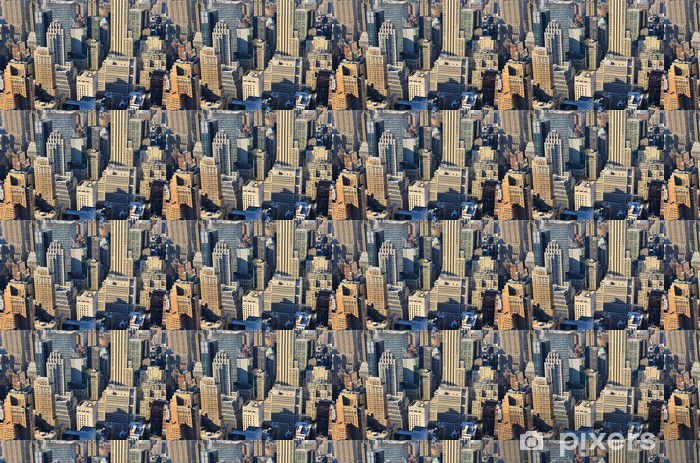 Papier peint vinyle sur mesure Vue aérienne de Manhattan - Villes américaines