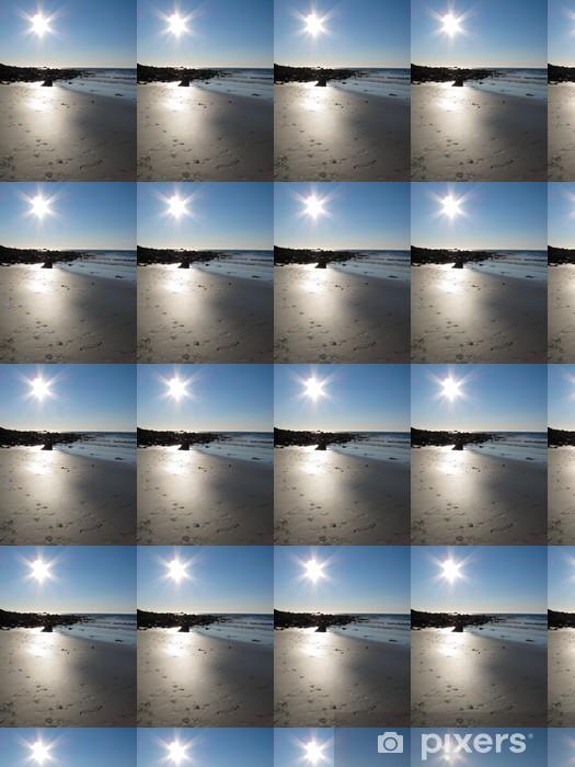 Vinyl behang, op maat gemaakt Schilderachtige landschap aan Noorwegen beach - Water