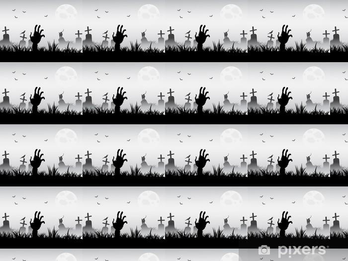 Papier peint vinyle sur mesure Réveil zombie - Thèmes