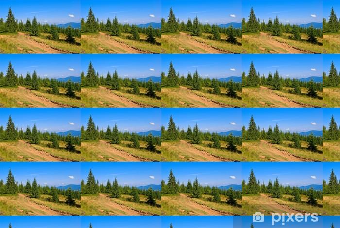Papier peint vinyle sur mesure Forêt de pins de montagne - Vacances