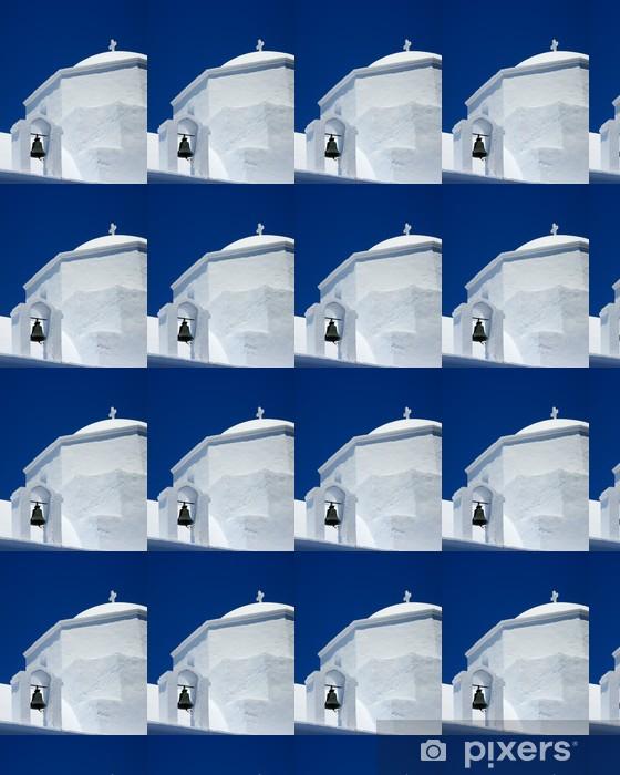 Vinylová tapeta na míru Kostel kupole a zvonice v řeckém ostrově - Evropa