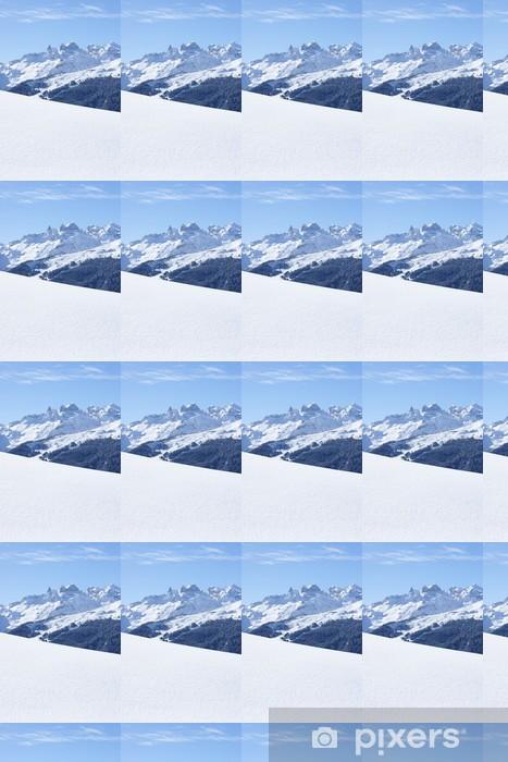 Papier peint vinyle sur mesure L'hiver dans les montagnes - Europe