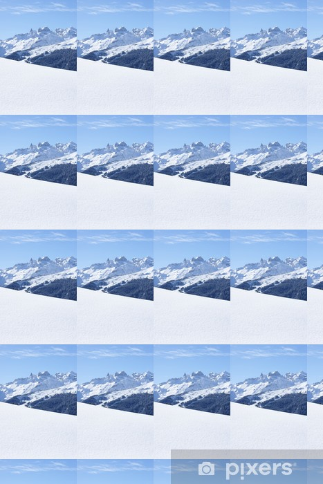 Vinyltapete nach Maß Winter in den Bergen - Europa
