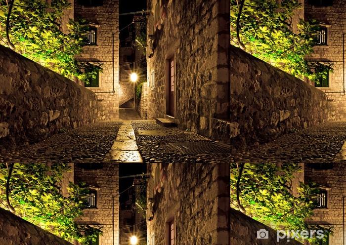 Vinylová Tapeta Dubrovnik ulice v noci - Témata