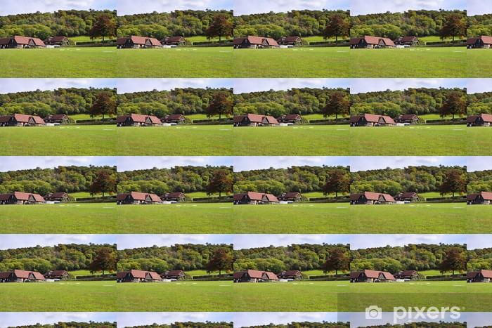 Papier peint vinyle sur mesure Un paysage rural anglais en début de l'automne - Agriculture