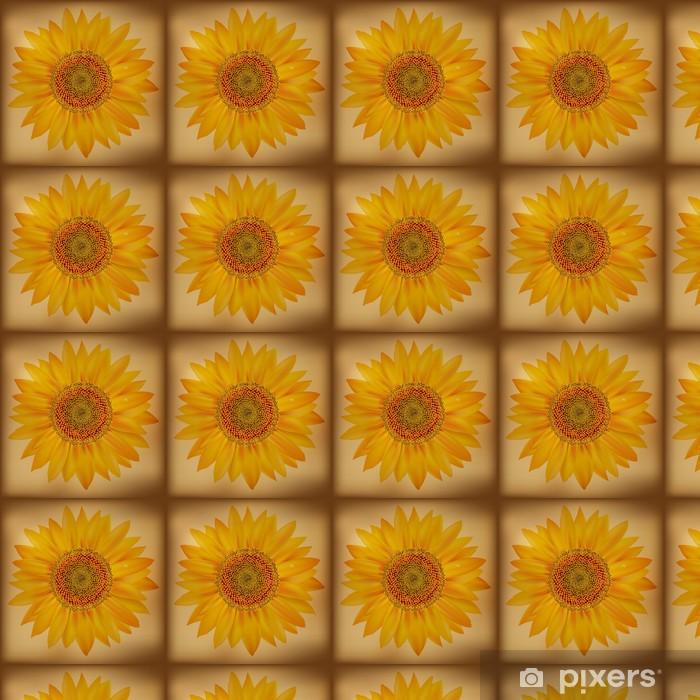 Vinylová tapeta na míru Vintage Slunečnice - Květiny