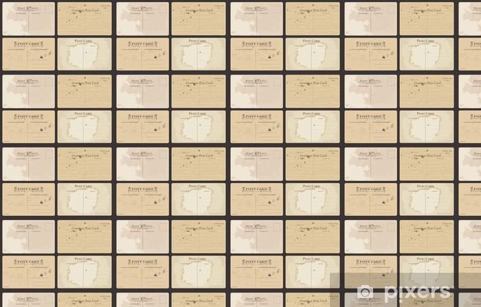 Papier peint vinyle sur mesure Ensemble de cartes postales anciennes dans le vecteur - Textures