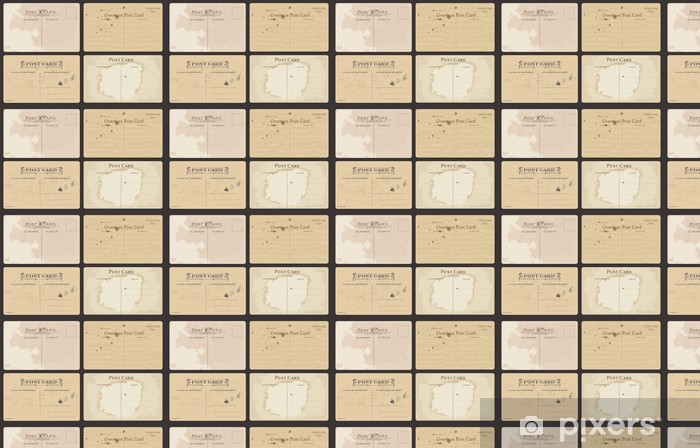 Tapeta na wymiar winylowa Zestaw pocztówek z antykami wektora - Tekstury