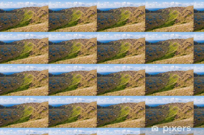 Måttanpassad vinyltapet Rano Kau vulkanen, Påskön (Chile) - Amerika