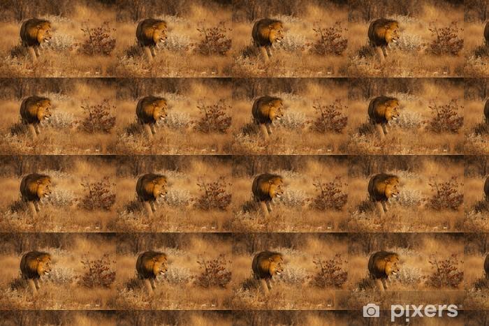 Papier peint vinyle sur mesure Lion affamé - Thèmes