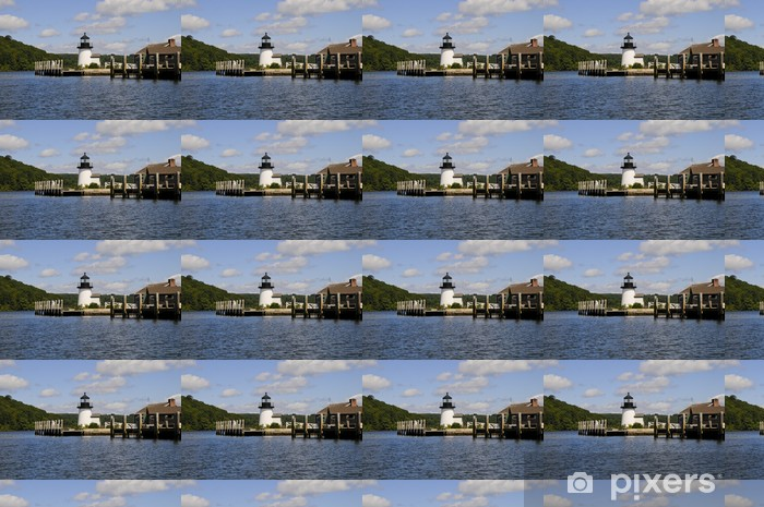 Tapeta na wymiar winylowa Lighthouse, Mystic Seaport, Mystic, Connecticut, USA - Ameryka
