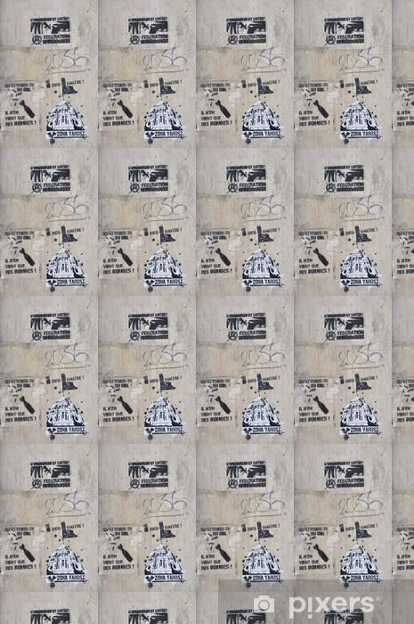 Papier peint vinyle sur mesure Graffiti sur la butte - Art et création