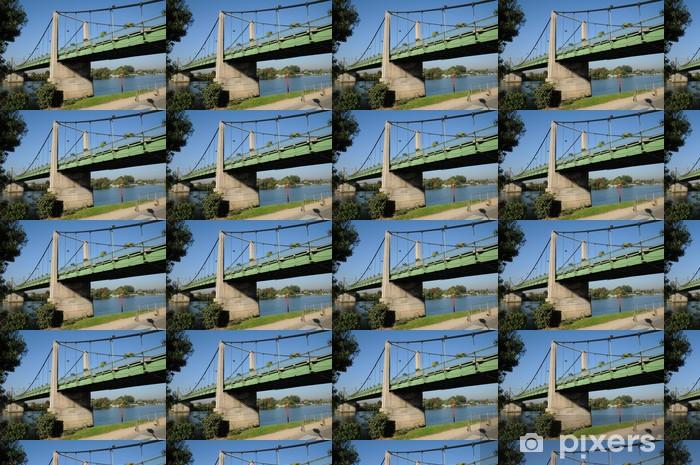 Papier peint vinyle sur mesure France, pont suspendu de Triel Sur Seine - Infrastructures