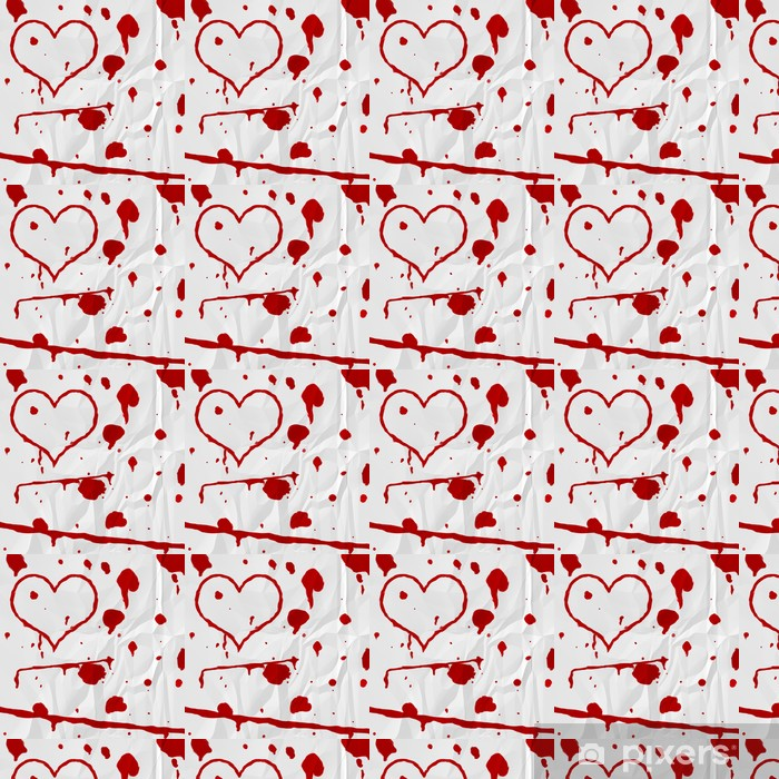 Papel pintado estándar a medida La sangre del corazón en el papel - iStaging