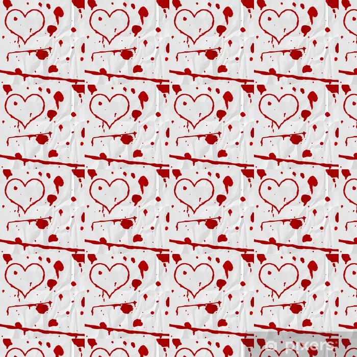 Papier peint vinyle sur mesure Coeur de sang sur le papier - iStaging