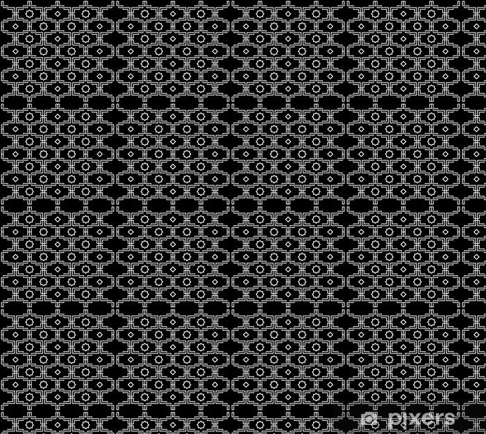 Vinyl behang, op maat gemaakt Zwart-wit Patroon - Stijlen