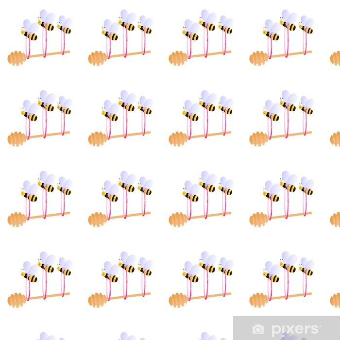 Tapeta na wymiar winylowa Pszczoły przewożące dipper miód - Inne Inne
